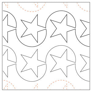 Julie's Star Tear Away Quilting Design