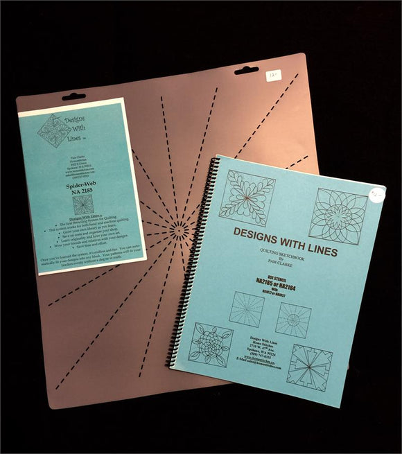 Spider Web Book and Stencil Kit