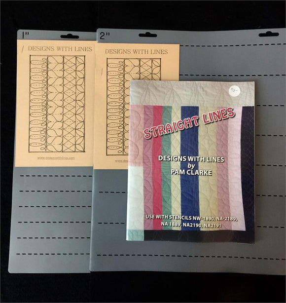 Straight Lines Book and Stencils Kit