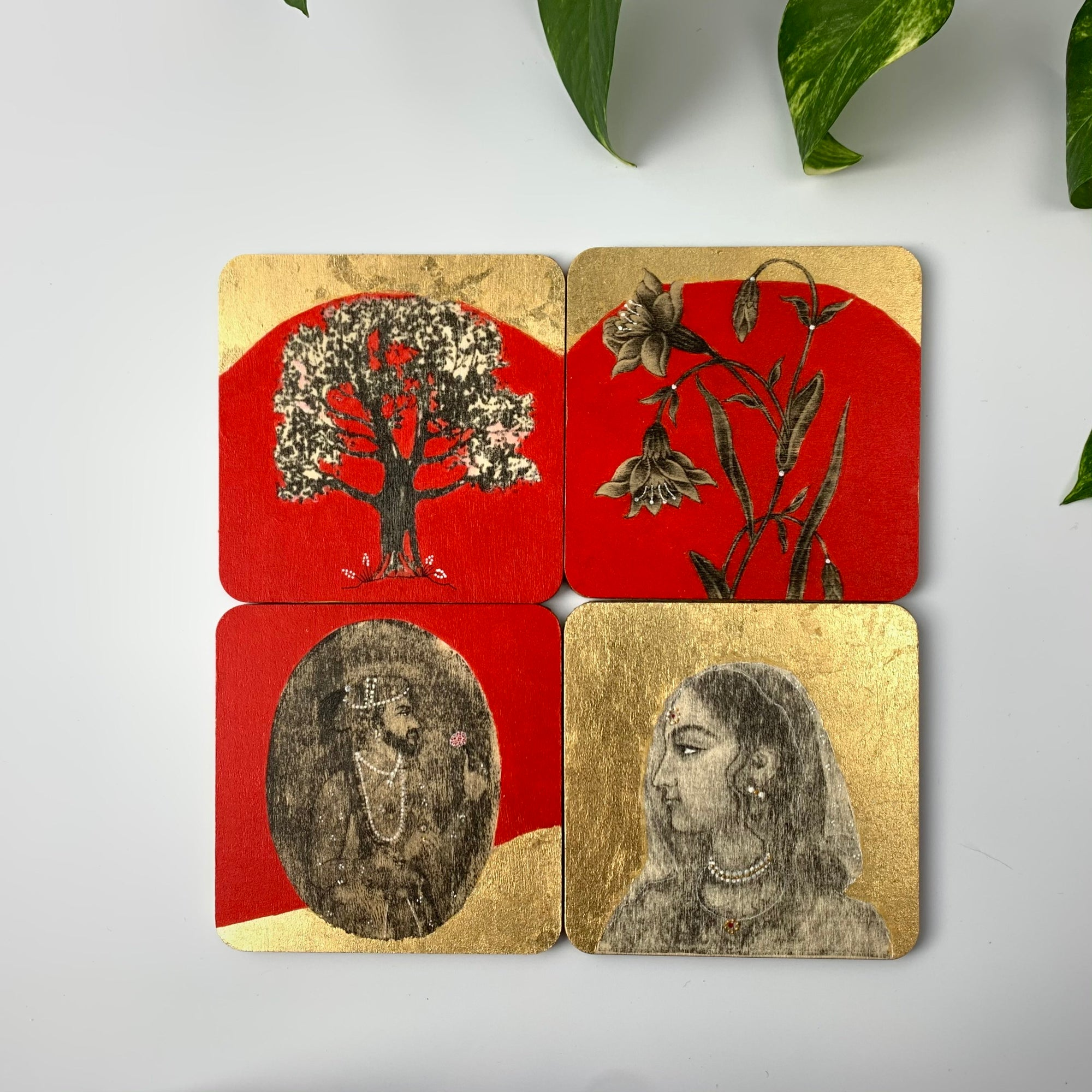 Coaster 06_Raja Rani _Set of 4 Coasters