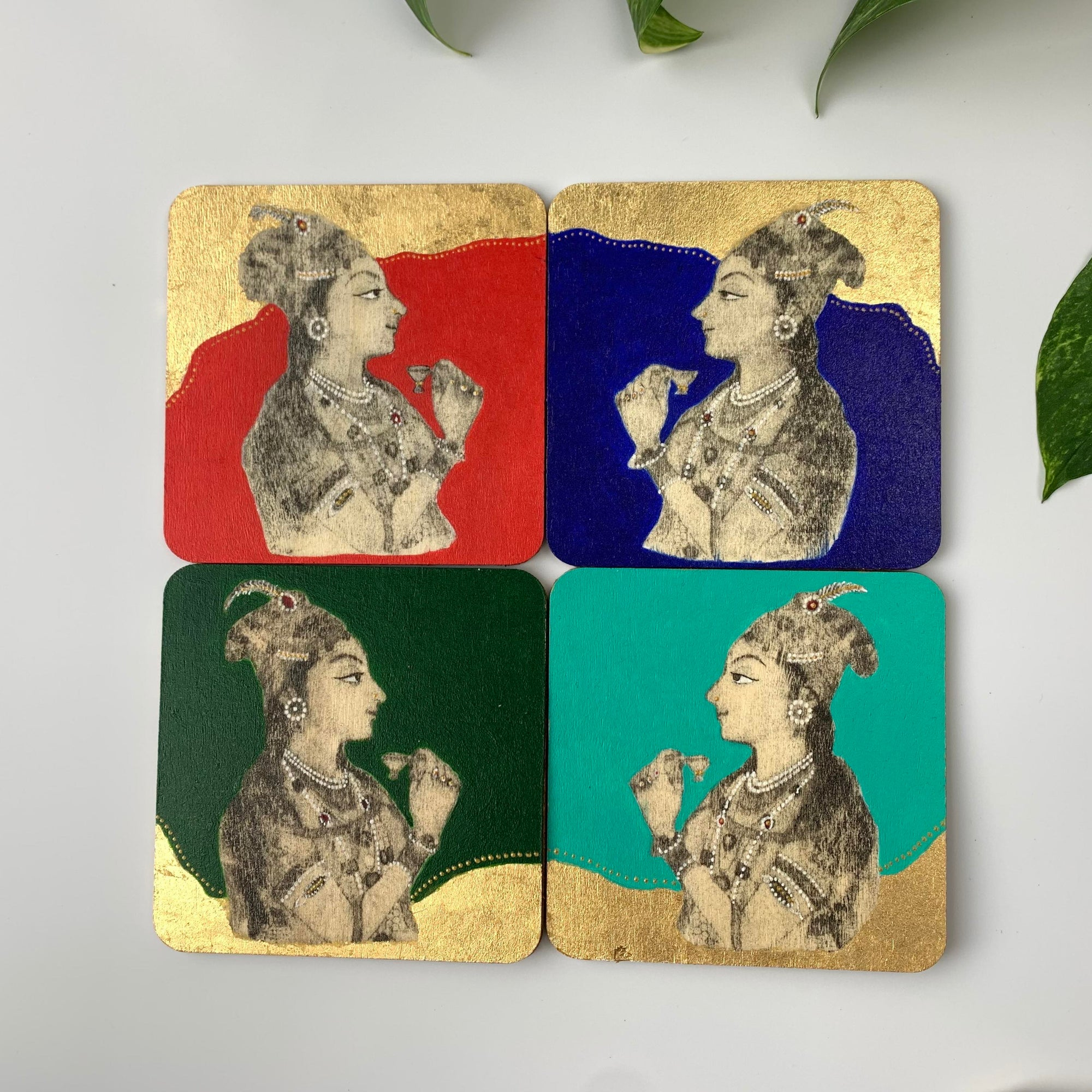 Coaster 02_Ladies Tea Party_Set of 4 Coasters