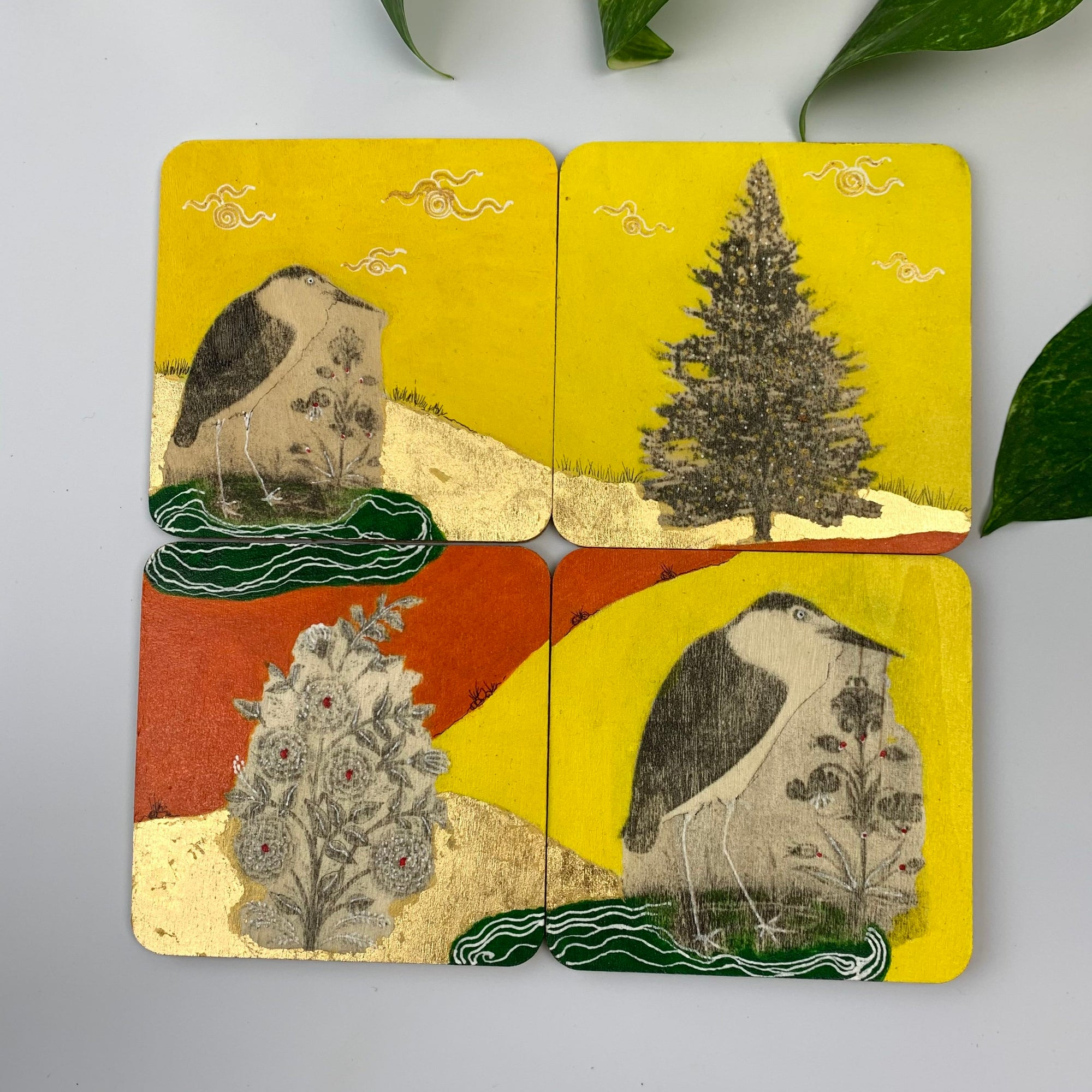 Coaster 01_ Lonely Birds_Set of 4