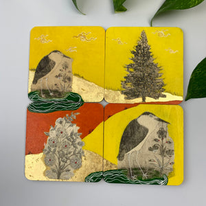 Coaster 01_ Lonely Birds Coaster_Set of 4