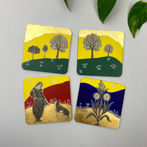 Coaster 12_ Walk In The Park_Set of 4 Coasters