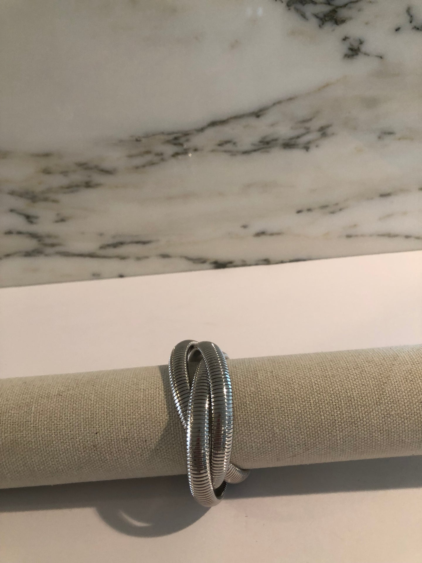 Triple Bracelet-Rhodium