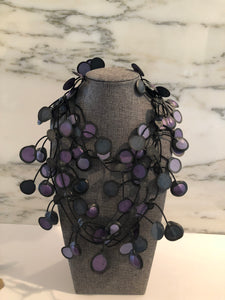 Rubber Necklace-Black/Purple