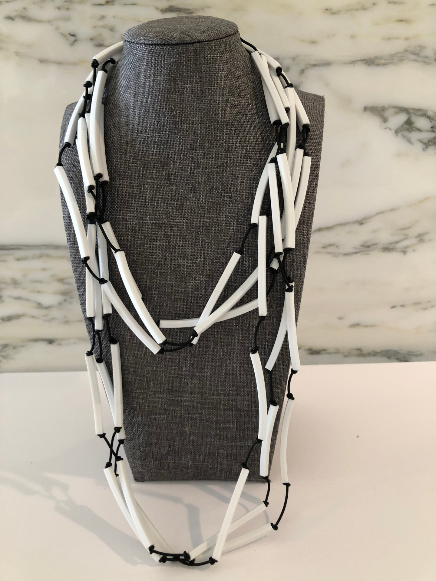 Black & White Rubber Necklace (can be doubled)