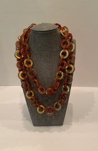 Cinnamon Chain Necklace-(Can Be Doubled)