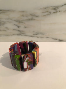 Colorful Resin Bracelet