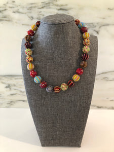 Glass Beaded Necklace- Multicolor (Small Beads)