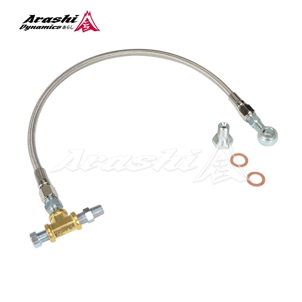 Garrett T2 T25 T28 GT25 GT28 GT30 Turbo Oil Feed Line Kit 47cm