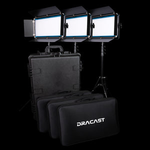 Dracast LED1000 X-Series Smart Panel 3-Light Kit with Hard Case