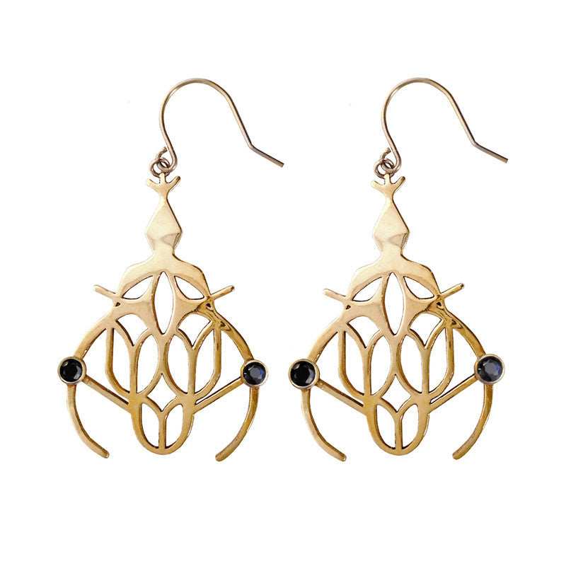The Soothsayer Black Diamond Earrings