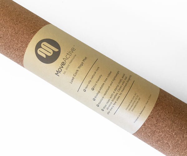 Luxe Eco Cork Yoga Mat - Natural