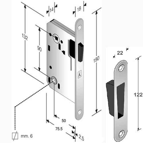 Magnetic Door Latch (Bathroom)