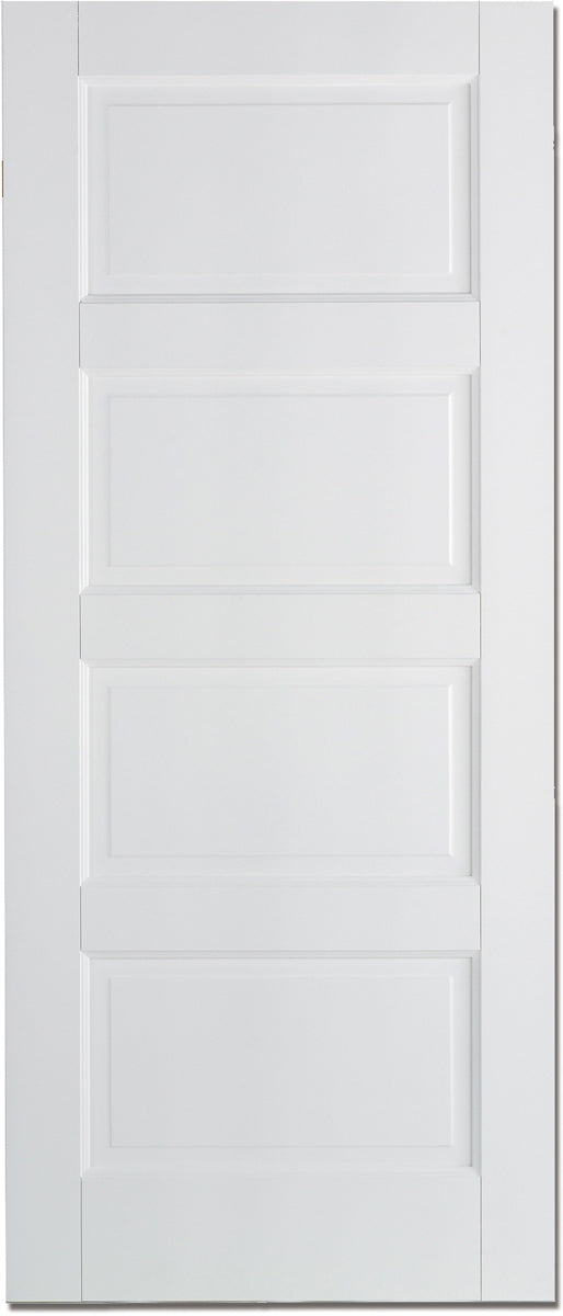 LPD Solid White Primed Contemporary 4P Fire Door