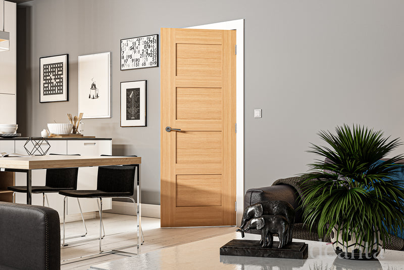 Deanta Oak Coventry Fire Door Pre-Finished