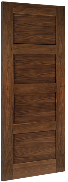Deanta Walnut Coventry Fire Door Pre-finished