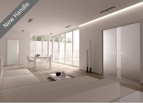 Eclisse Classic Satin Glass Double Pocket Door System