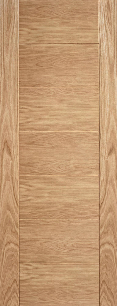 LPD Prefinished Oak Carini 7P Fire Door
