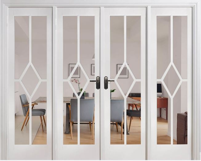 LPD Solid White Primed Reims W8 Room Divider Set