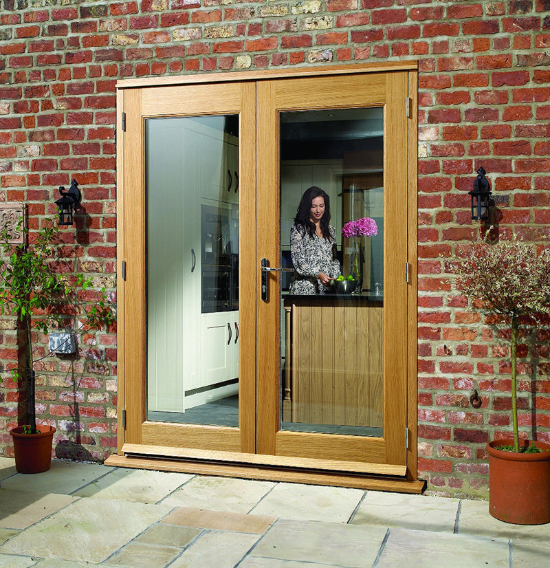 XL Joinery External Prefinished Oak La Porte French Doorset (4ft)
