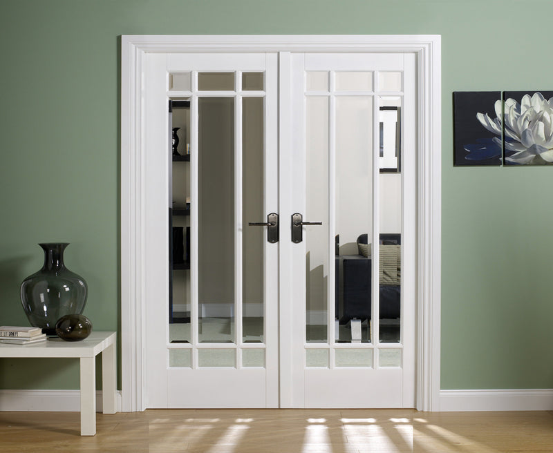 LPD Solid White Primed Manhattan W4 Room Divider Set