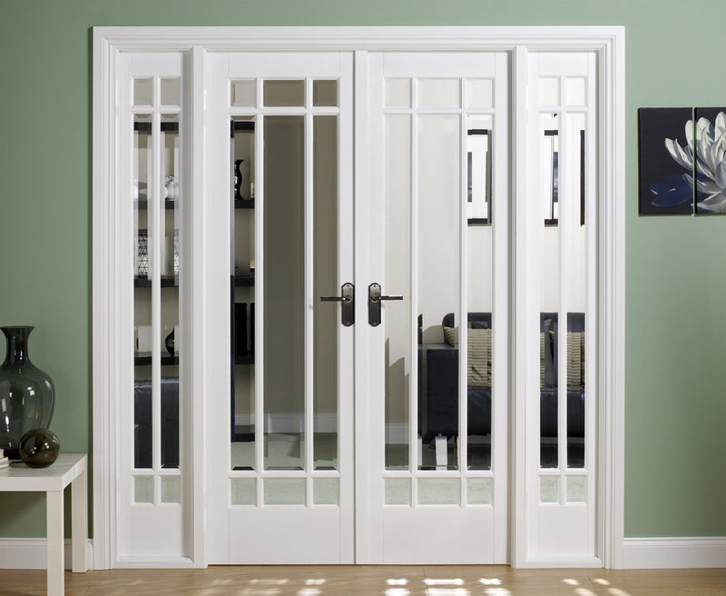 LPD Solid White Primed Manhattan W6 Room Divider Set