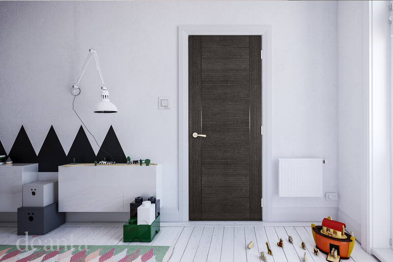 Deanta Dark Grey Ash Montreal Fire Door