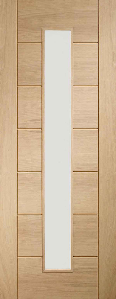 XL Joinery Oak Palermo 1L Clear Glazed Fire Door