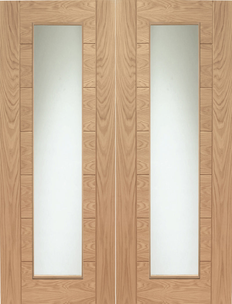 XL Joinery Oak Palermo Clear Glazed Pair
