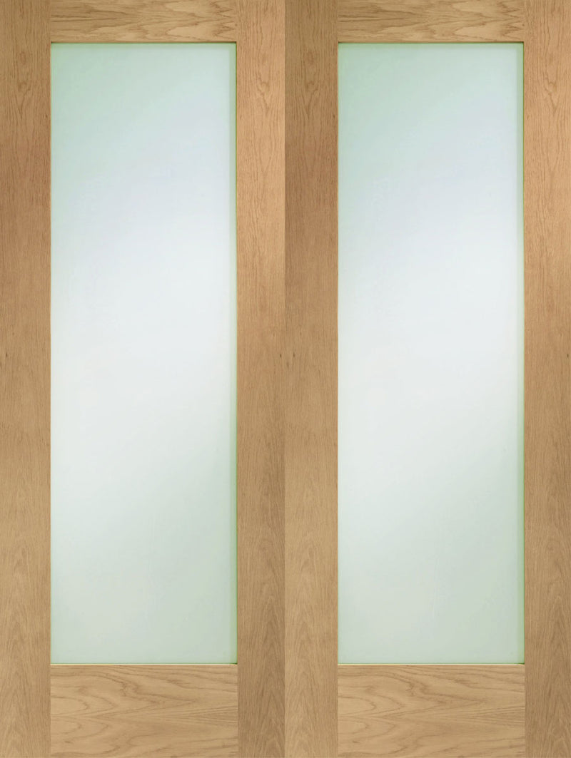 XL Joinery Oak Pattern 10 Door Pair Clear Glazed