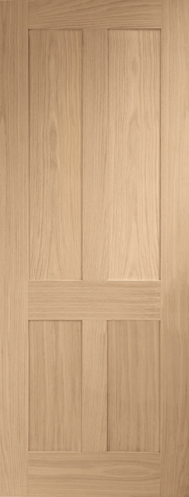 XL Joinery Oak Victorian Shaker Fire Door