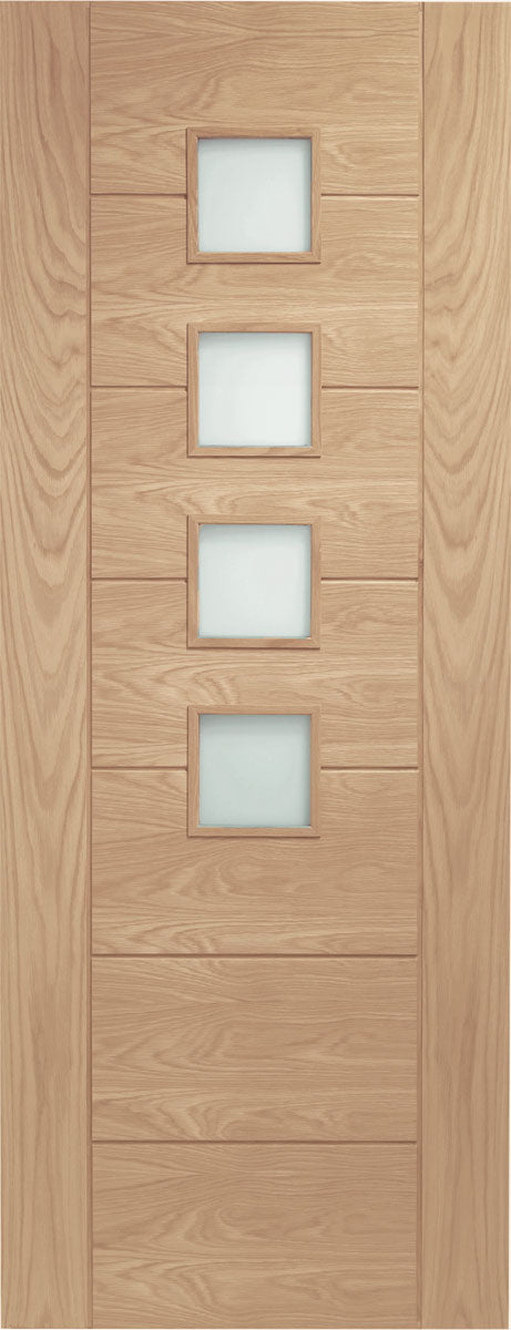 XL Joinery Oak Palermo Obscure Glazed Fire Door