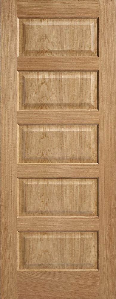 LPD Prefinished Oak Contemporary 5P Fire Door
