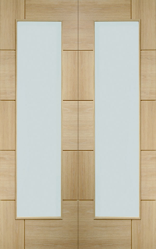 XL Joinery Oak Ravenna Clear Glazed Pair