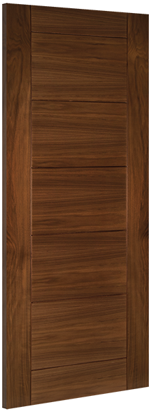 Deanta Walnut Seville Fire Door Pre-finished
