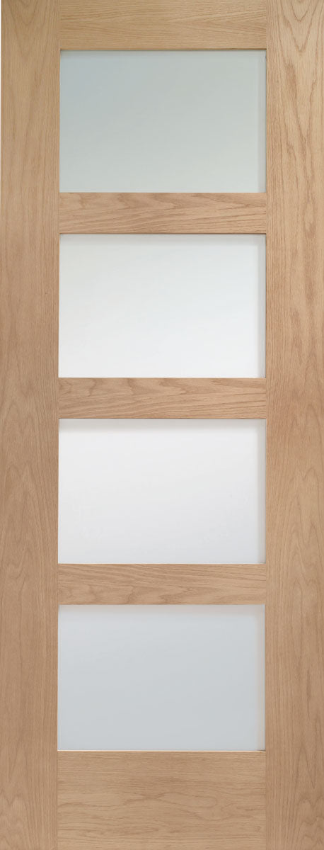 XL Joinery Oak Shaker Clear Glazed Fire Door