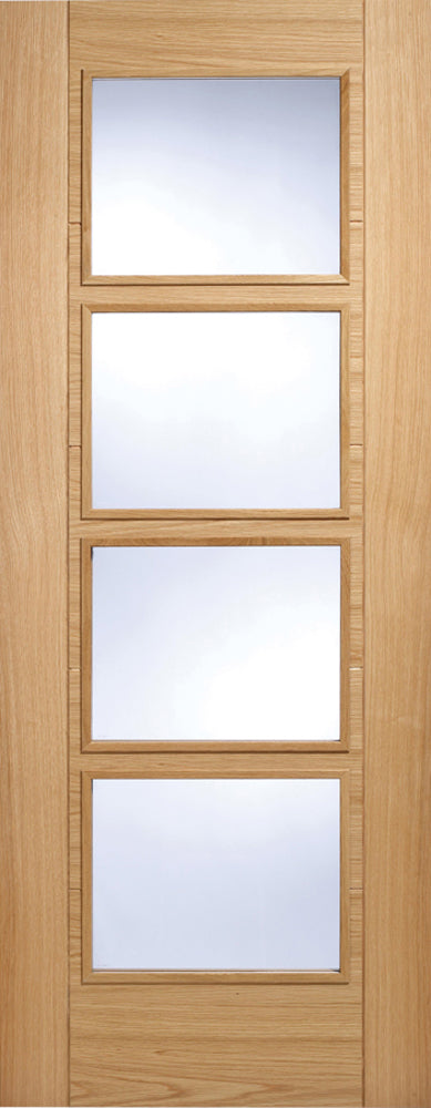 LPD Oak Vancouver 4L Clear Glazed Fire Door