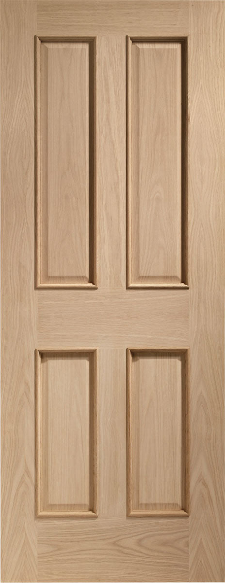 XL Joinery Oak Victorian 4 Panel RM Fire Door
