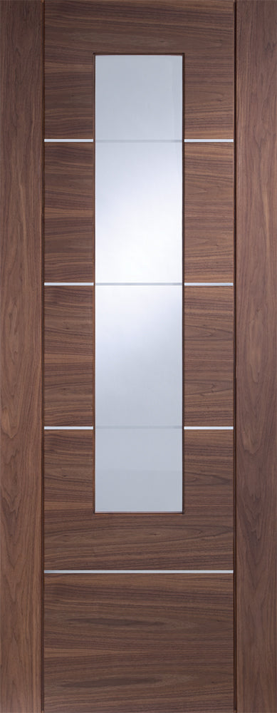 XL Joinery Prefinished Walnut Portici Clear Glazed