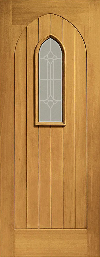 XL Joinery External Oak Westminster Decorative Glass Pre-Finished