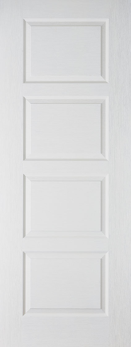 LPD Textured 4 Panel Contemporary Fire Door