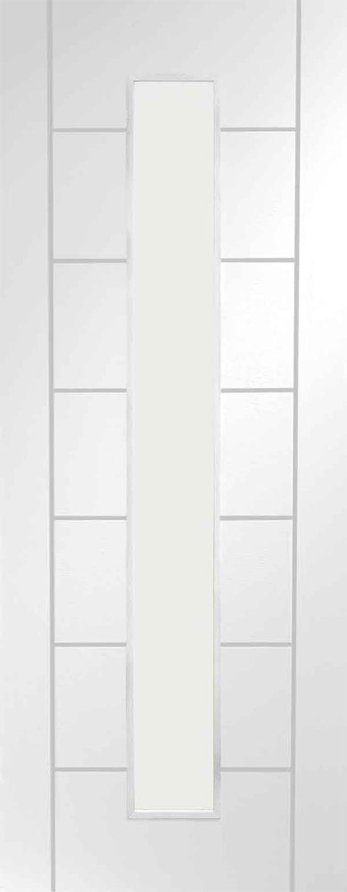 XL Joinery White Primed Palermo 1L Clear Glazed Fire Door
