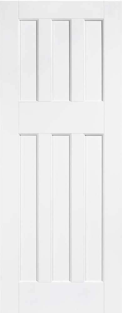 LPD Solid White Primed DX 60's Style Fire Door