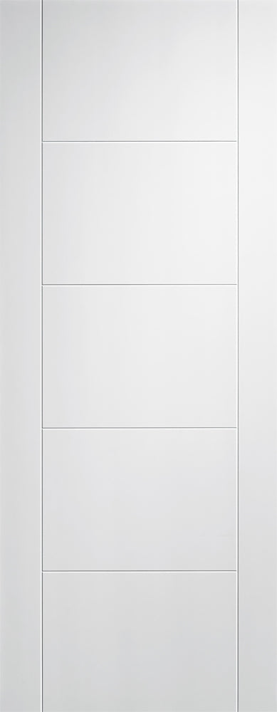 LPD Solid White Primed Vancouver 5P Fire Door