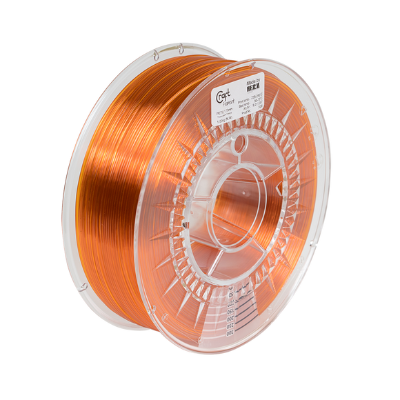 PET-G filament Transparent Orange 1kg