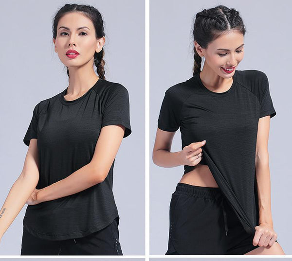 Summer Women Gym Top T Shirts Slim Fit For Yoga Top Gym Women Shirt Fitness T-Shirts Yoga Short