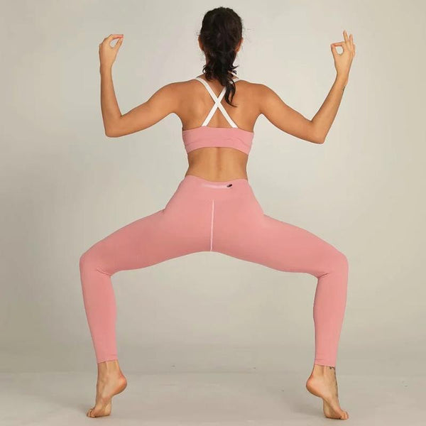 Fitness clothes High Waist Legging and Bra Jogging Women Yoga Set 2Piece Gym Set Seamless Workout