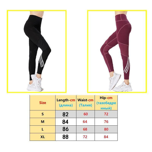 Seamless Leggings High Waist Striped Leggins Sport Women Fitness Running Yoga Pants Energy Seamless
